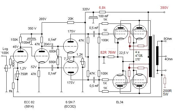 Pioneer 2 Ohm   Wiring Diagram together with Vw Touareg Wiring Diagrams together with Lm324 Lifier Circuit Schematic likewise Pignose G40v Schematic additionally El34 Push Pull Parallel Tube Lifier Schematic. on tube power lifier schematic diagram